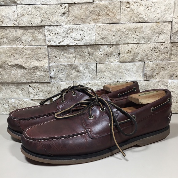 huge sale beauty factory price Men's Timberland 2-Eye Boat Shoes Size 7